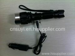 Hand-power Flashlight with Cree Q5 Bulb