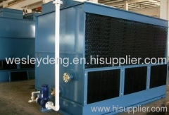 Induction melting furnace cooling tower