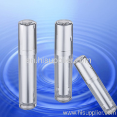 Silver Cylinder Diamond Top Acrylic Bottle