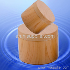 CREAM ABS JAR WITH WOODEN LOOK