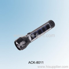 LED Aluminum Solar Flashlight ACK-8011