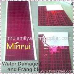 Minrui Water damaged destructible labels
