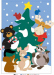 Custom Christmas tree & Animals garden flag