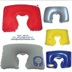 inflatable pillow, neck pillow, inflatable neck pillow, U-shape neck pillow
