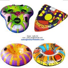 Inflatable snow tube, inflatable ski tube, inflatable winter tube, single inflatable snow tube