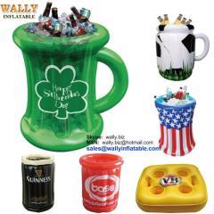 inflatable cooler, inflatable ice cooler, inflatable drink cooler, inflatable beer cooler, inflatable beverage cooler