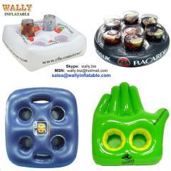 inflatable holder, inflatable cup holder, inflatable drink holder, Inflatable beer holder, inflatable beverage holder