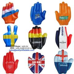 inflatable hand, Inflatable flag hand, Australian flag inflatable hand, inflatable cheering hand