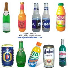 inflatable bottle, inflatable can, promotional inflatable bottle, inflatable champagne bottle, inflatable beer bottle