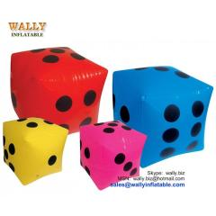 Inflatable dice, inflatable dice toy, inflatable dice game, PVC inflatable riddle