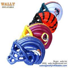 inflatable helmet, PVC inflatable helmet, inflatable helmet toy, blow up helmet