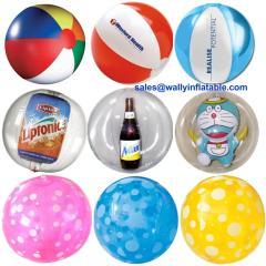 inflatable beach ball, beach ball with doll inside, 3-D, mini beach ball, big beach ball