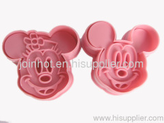 mickey mouse and minnie mouse cookies cutter set cookie mold baking tools kids kitchenare
