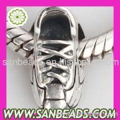 Sneaker-shaped European 925 sterling silver beads wholesale