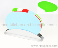 4pcs oval index chopping board with water pan