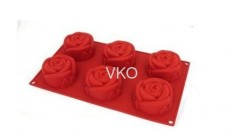 6 Big Flower Silicone Cake Mold