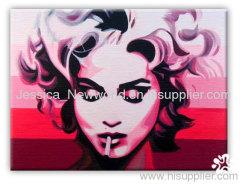 Pop art of woman