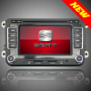 2din in-dash Seat series Car DVD Player GPS Navigation with USB Bluetooth Radio SD