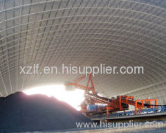 Sichuan Hongya Yasen Cement Company Warehouse Space frame Project(Barrel Shell)