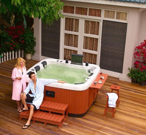 garden hot tubs outdoor