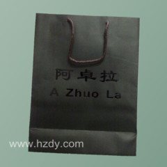 Paper bag with hot stamping logo