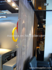decorative metal screen as divider