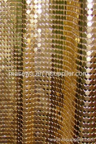 golden aluminum cloth curtain