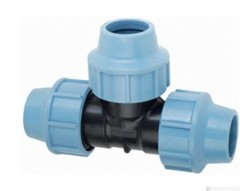 PP Equal Tee With PN16 Fittings