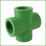 PPR Equal Cross Pipe Fitting for Cold and Hot Water