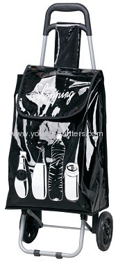 black trolley bag for outside