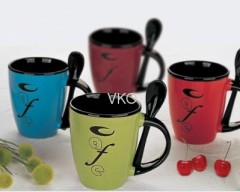 Letters Ceramic Coffee Mugs
