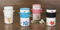 Flower Decal Printing New Bone China Ceramic Coffee Mug Cup With Silicone Heatproof