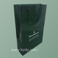 card board paper bag with logo