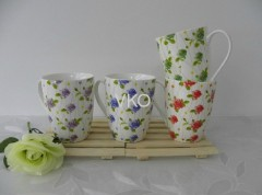 Color-Changing New Bone China White Ceramic Mug