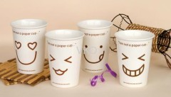 White Smiling Face New Bone China Ceramic Mug