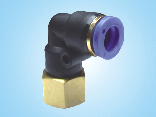 PLF L-Type Inner Thread Two-way/Pneumatic Connector