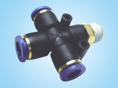 PZR Male Thread Four-way/Pneumatic Connectors
