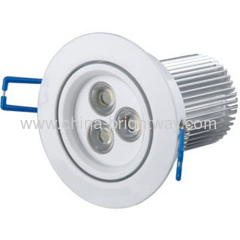 Standard 3*3W led downlight 90*H82mm CE Rohs