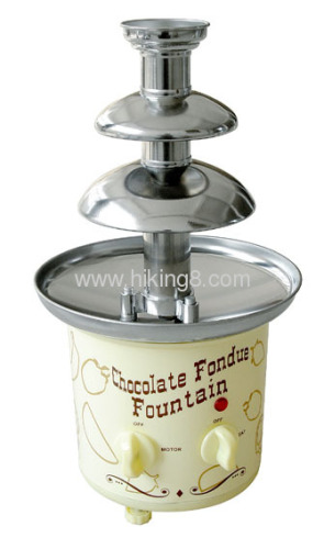 3-tiers home chocolate fountain
