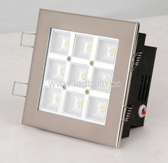9x1W COB led recessed light