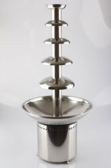 commecial chocolate fondue fountain with 6-tiers