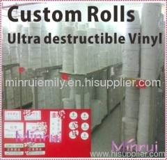 destructible vinyl