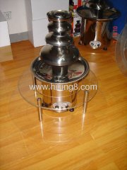 2 tiers chocolate fountain surround desk
