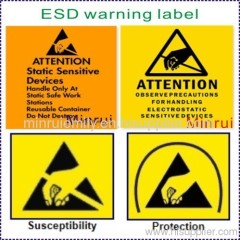 ESD Label,Warning Security Stickers,Ultra Destructible Labels