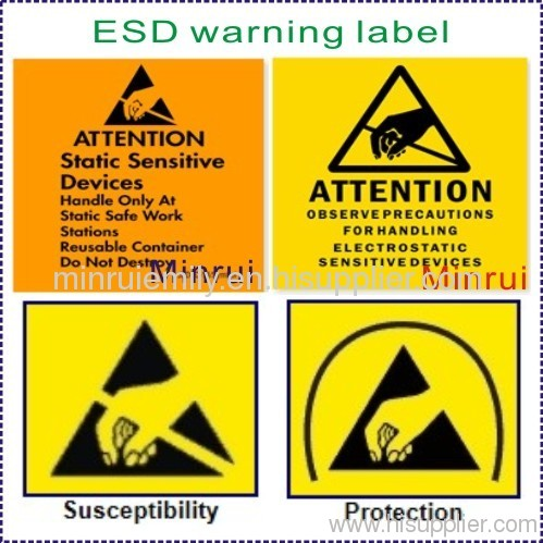 Esd Warning Label From China Manufacturer Shenzhen