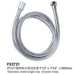 Stainless Steel Single Clip Shower Hose