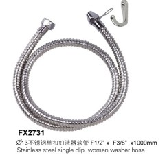 Stainless Steel Single Clip Women Washer Hose