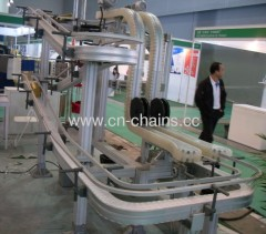 conveyor chain systems belt Meat applications including tray