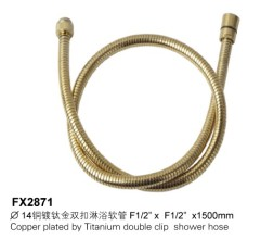 Copper Plated By Titanium Double Clip Shower Hose