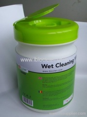 Alcohol free computer cleaning wet wipes